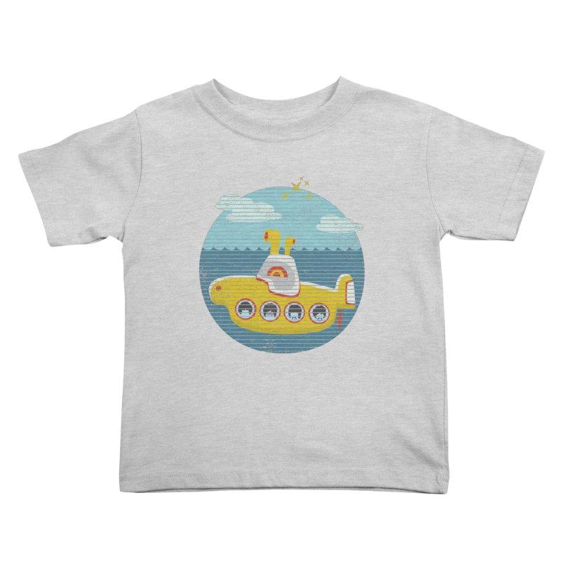 Yellow Submarine Kids Toddler T-Shirt by makart's Artist Shop