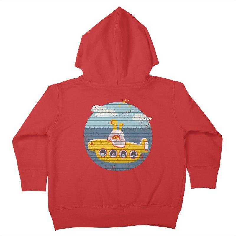 Yellow Submarine Kids Toddler Zip-Up Hoody by makart's Artist Shop