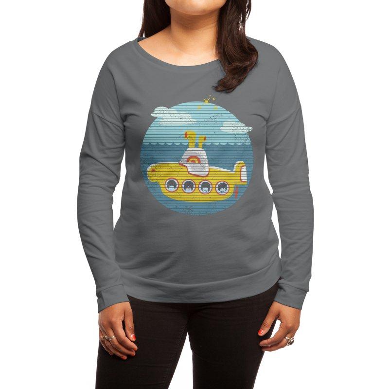 Yellow Submarine Women's Longsleeve T-Shirt by makart's Artist Shop
