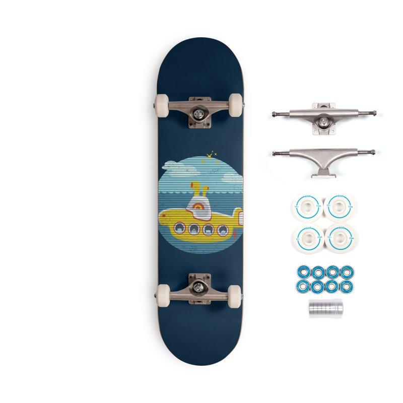 Yellow Submarine Accessories Skateboard by makart's Artist Shop