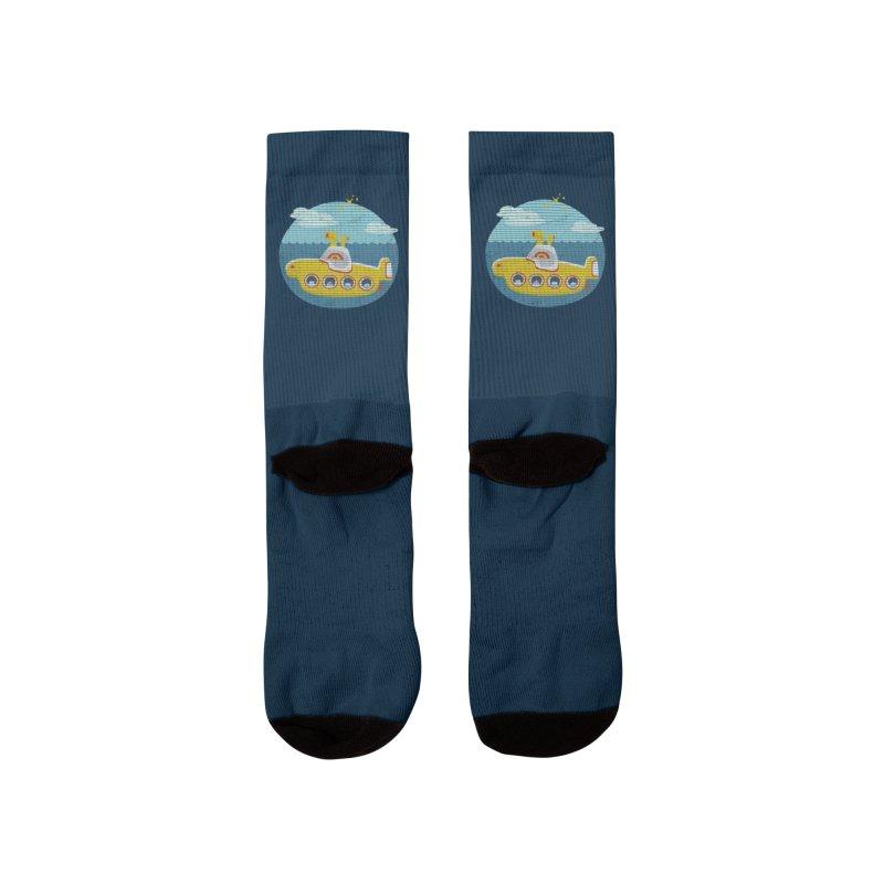 Yellow Submarine Men's Socks by makart's Artist Shop