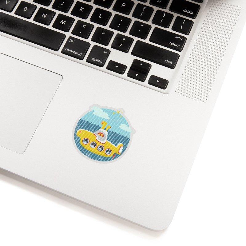 Yellow Submarine Accessories Sticker by makart's Artist Shop