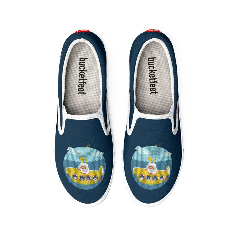 Yellow Submarine Women's Shoes by makart's Artist Shop