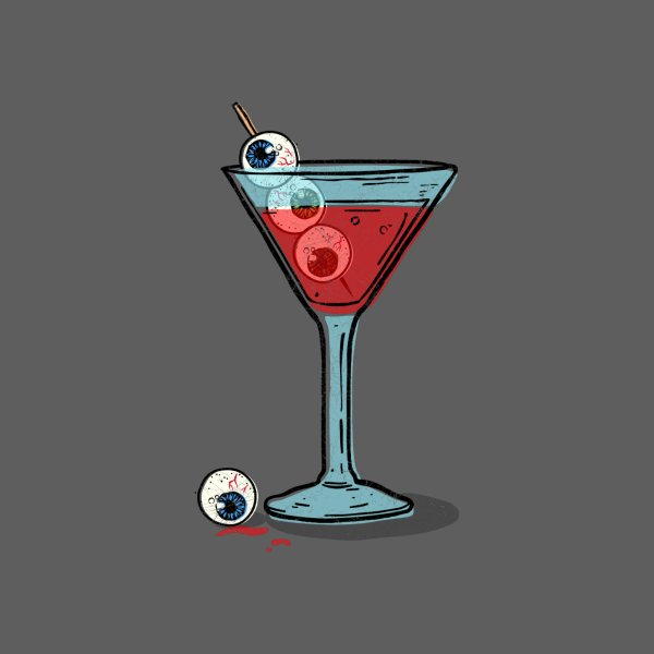 Design for Halloween martini