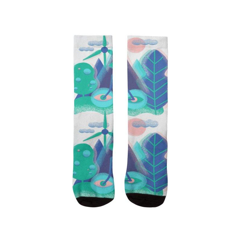 Think eco Men's Socks by makart's Artist Shop
