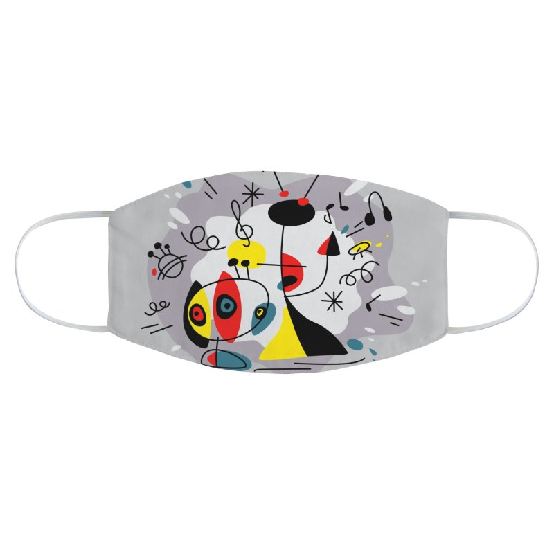 Music inspired by Joan Miro Accessories Face Mask by makart's Artist Shop