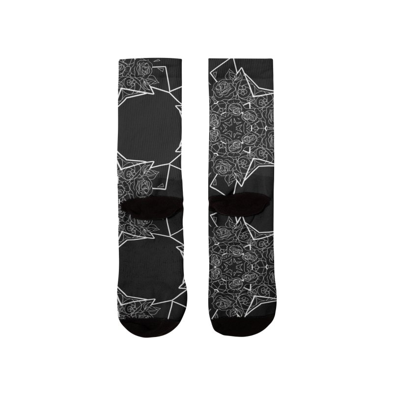 Roseidoscope Men's Socks by Makayla's Artist Shop