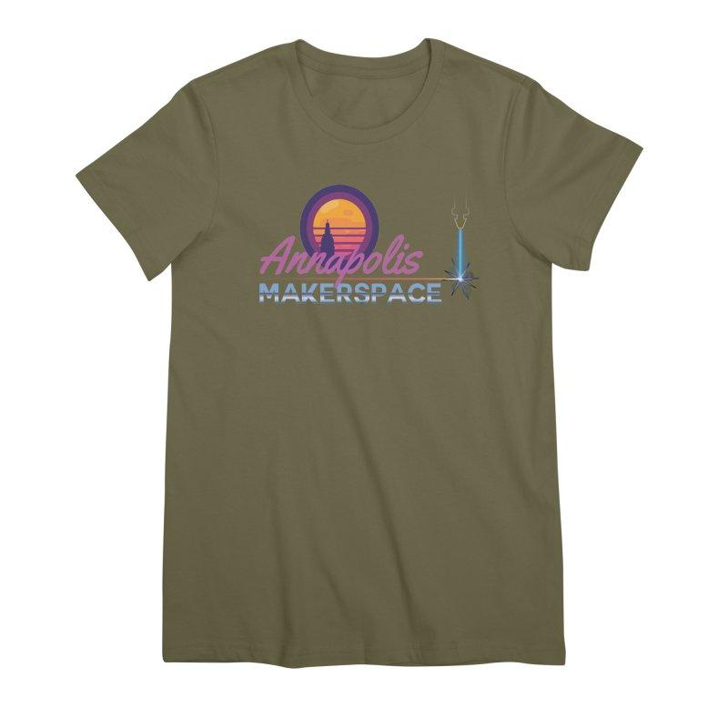 Retro Laser Women's Premium T-Shirt by Annapolis Makerspace's Shop