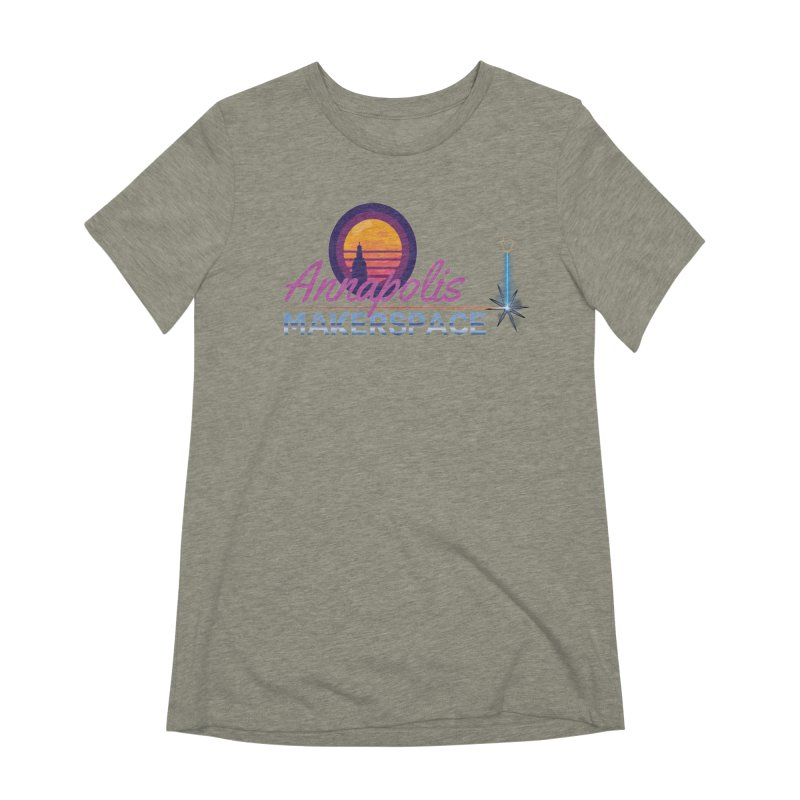 Retro Laser Women's Extra Soft T-Shirt by Annapolis Makerspace's Shop