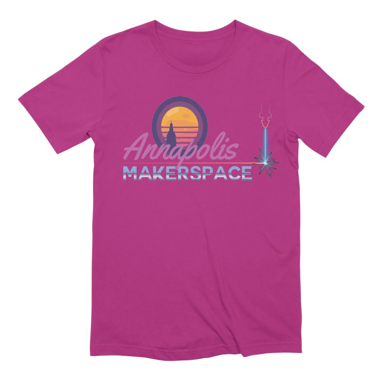Retro Laser Men's Extra Soft T-Shirt by Annapolis Makerspace's Shop