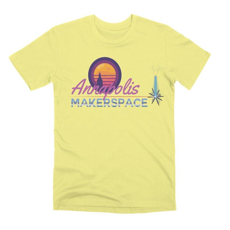Retro Laser Men's Premium T-Shirt by Annapolis Makerspace's Shop