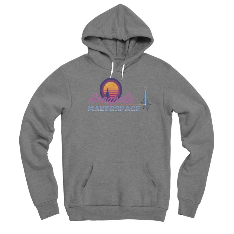 Retro Laser Men's Pullover Hoody by Annapolis Makerspace's Shop
