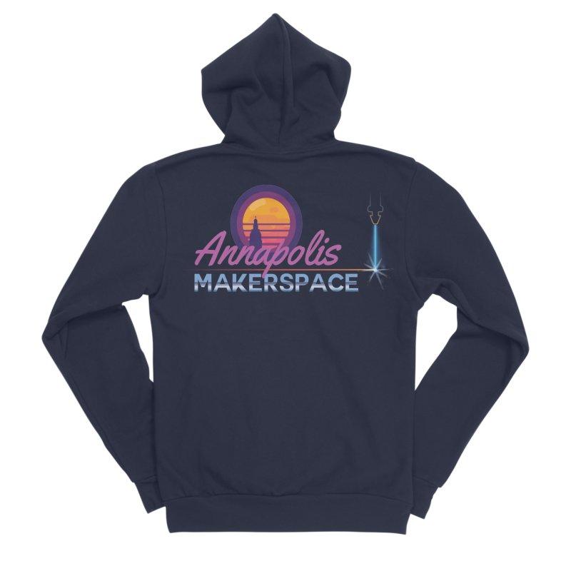 Retro Laser Women's Sponge Fleece Zip-Up Hoody by Annapolis Makerspace's Shop