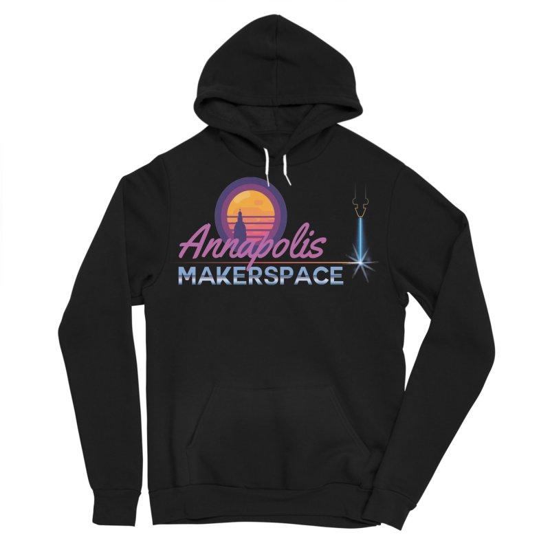 Retro Laser Men's Sponge Fleece Pullover Hoody by Annapolis Makerspace's Shop