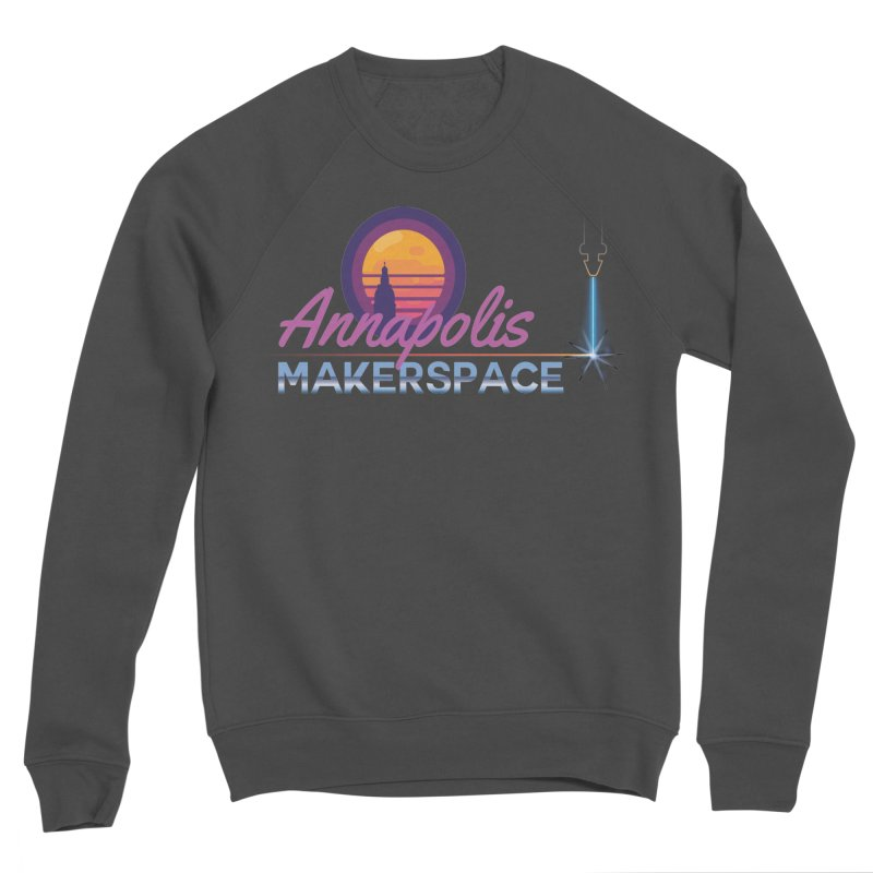 Retro Laser Men's Sponge Fleece Sweatshirt by Annapolis Makerspace's Shop