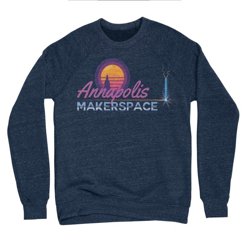 Retro Laser Women's Sponge Fleece Sweatshirt by Annapolis Makerspace's Shop