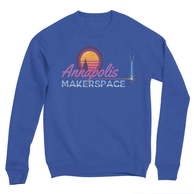 Retro Laser Men's Sweatshirt by Annapolis Makerspace's Shop