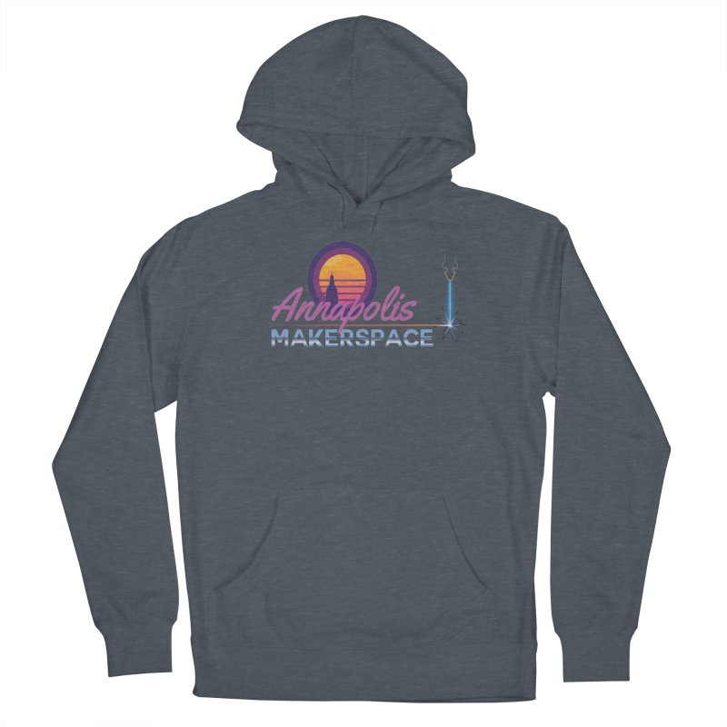 Retro Laser Men's French Terry Pullover Hoody by Annapolis Makerspace's Shop