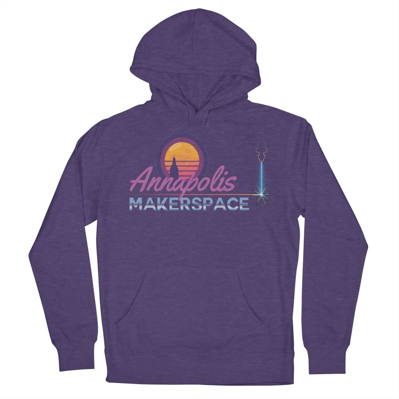 Retro Laser Women's French Terry Pullover Hoody by Annapolis Makerspace's Shop