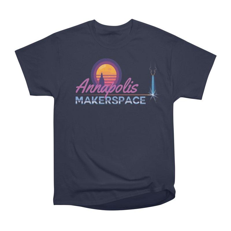 Retro Laser Women's Heavyweight Unisex T-Shirt by Annapolis Makerspace's Shop