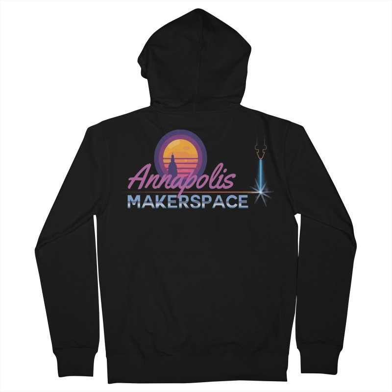 Retro Laser Women's French Terry Zip-Up Hoody by Annapolis Makerspace's Shop