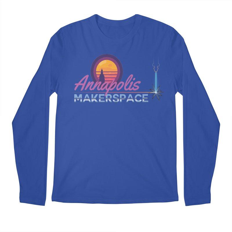 Retro Laser Men's Regular Longsleeve T-Shirt by Annapolis Makerspace's Shop