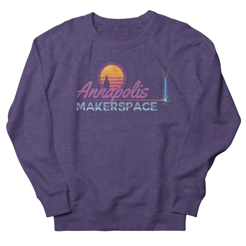 Retro Laser Women's French Terry Sweatshirt by Annapolis Makerspace's Shop
