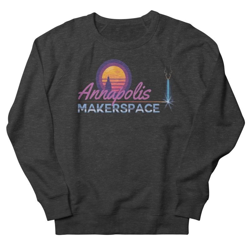 Retro Laser Men's French Terry Sweatshirt by Annapolis Makerspace's Shop