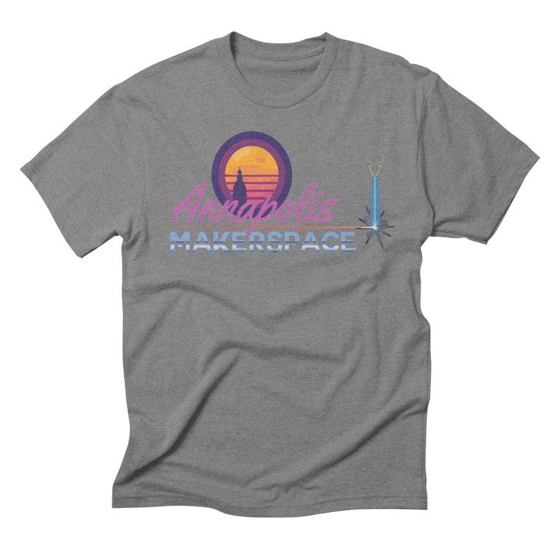 Retro Laser Men's Triblend T-Shirt by Annapolis Makerspace's Shop