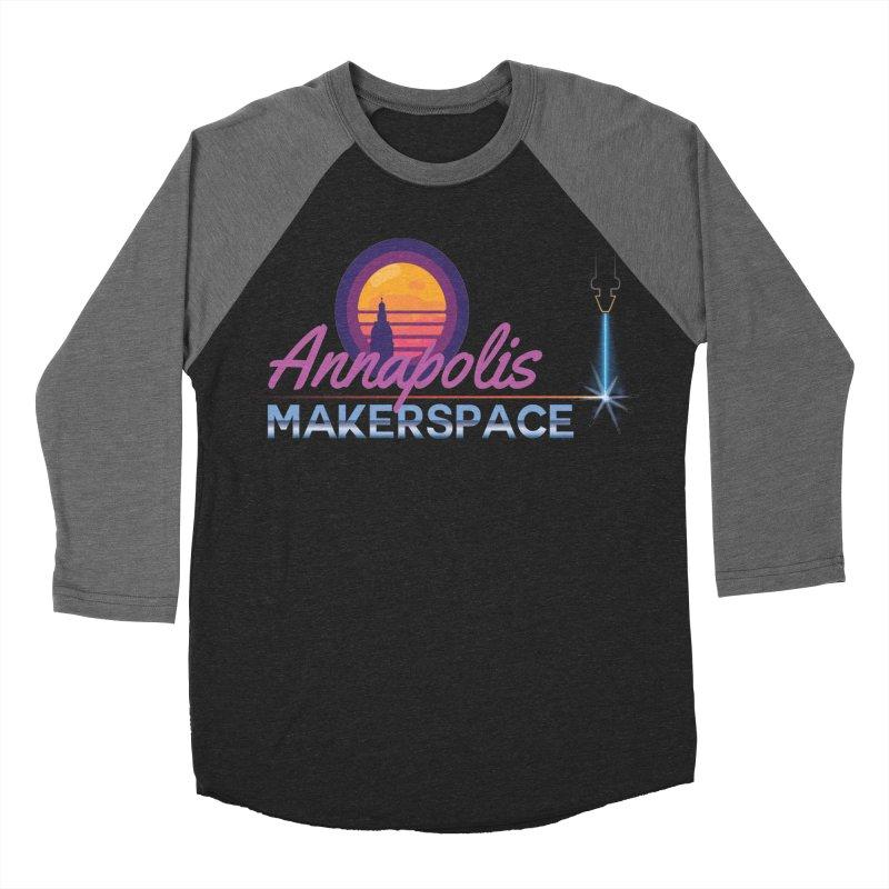 Retro Laser Men's Baseball Triblend Longsleeve T-Shirt by Annapolis Makerspace's Shop