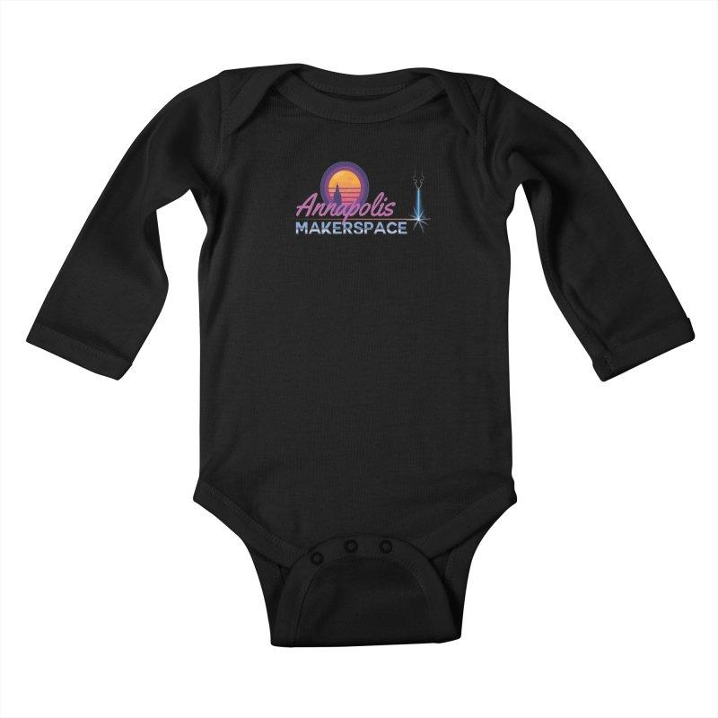 Retro Laser Kids Baby Longsleeve Bodysuit by Annapolis Makerspace's Shop
