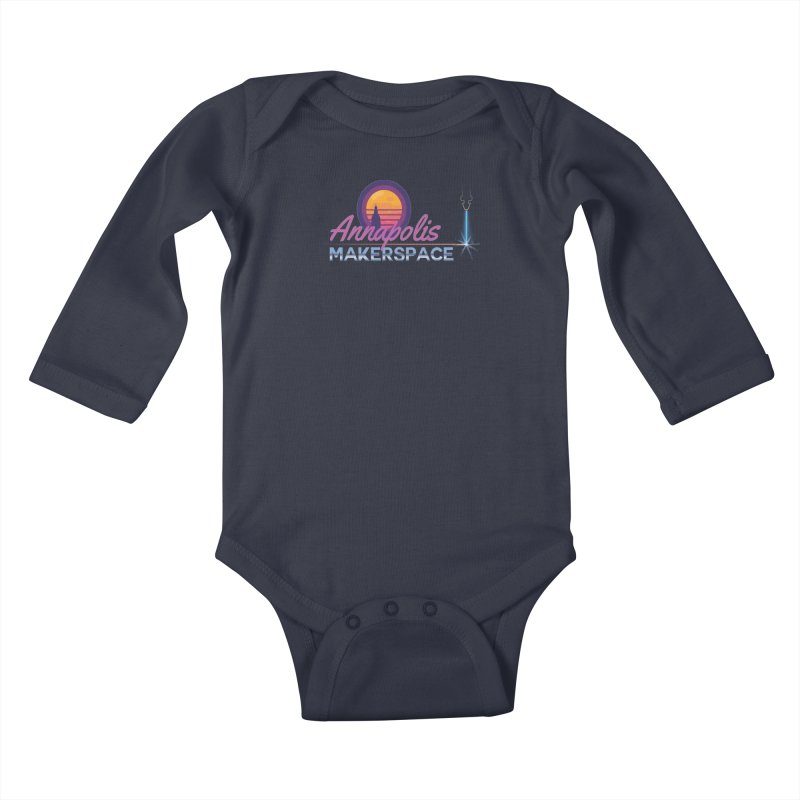 Retro Laser Kids Baby Longsleeve Bodysuit by Annapolis Makerspace's Shop