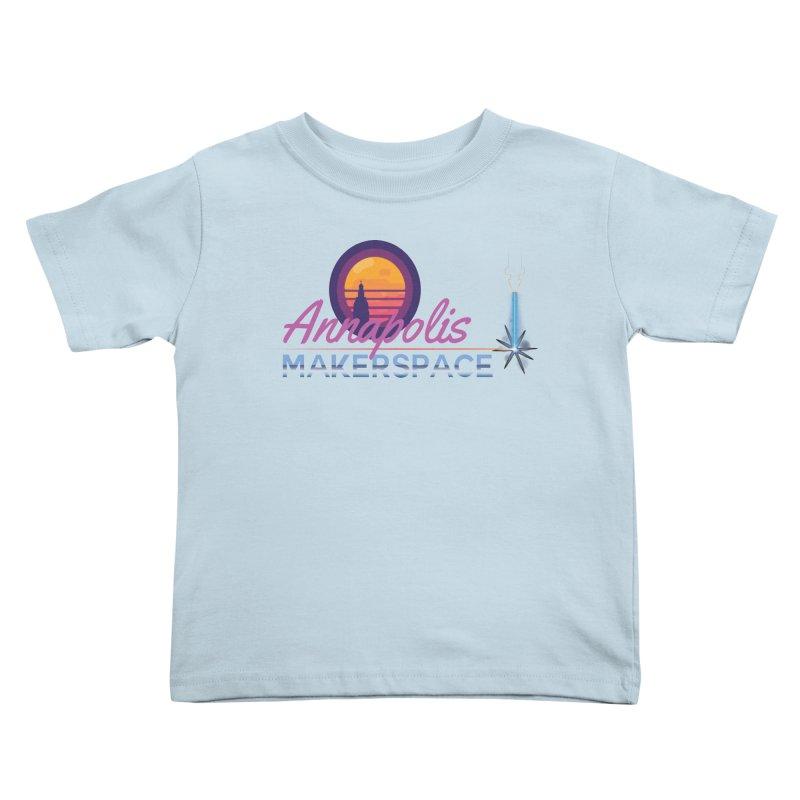 Retro Laser Kids Toddler T-Shirt by Annapolis Makerspace's Shop