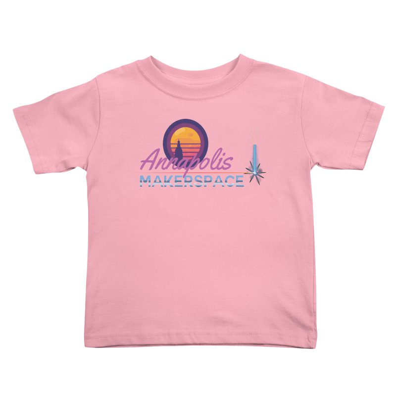 Retro Laser Kids Toddler T-Shirt by Annapolis Makerspace's Shop