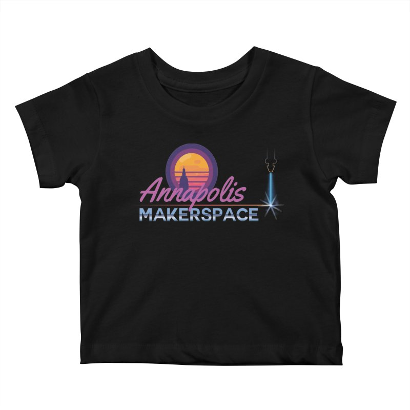 Retro Laser Kids Baby T-Shirt by Annapolis Makerspace's Shop