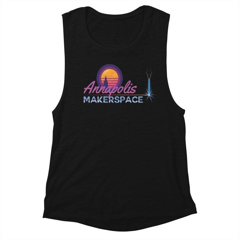 Retro Laser Women's Tank by Annapolis Makerspace's Shop
