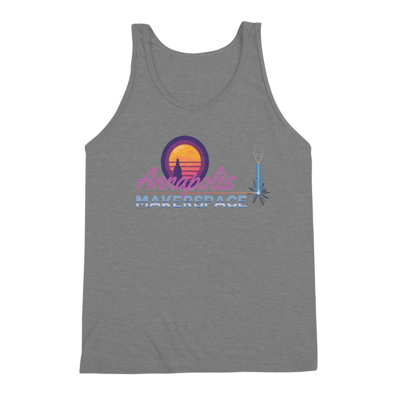 Retro Laser Men's Triblend Tank by Annapolis Makerspace's Shop