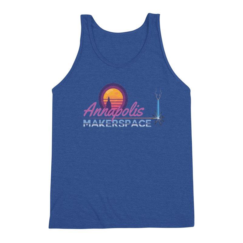 Retro Laser Men's Tank by Annapolis Makerspace's Shop