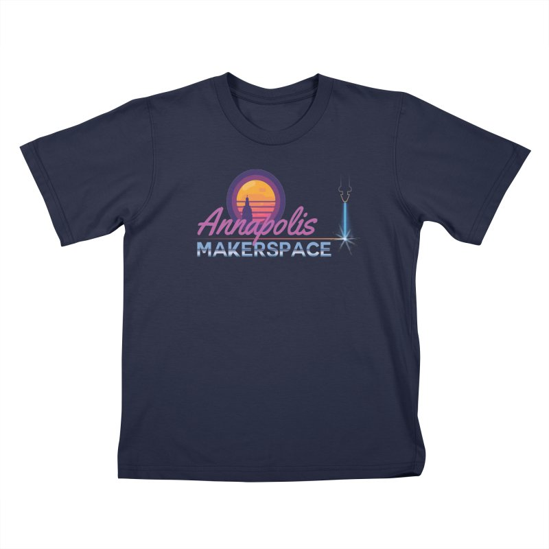 Retro Laser Kids T-Shirt by Annapolis Makerspace's Shop