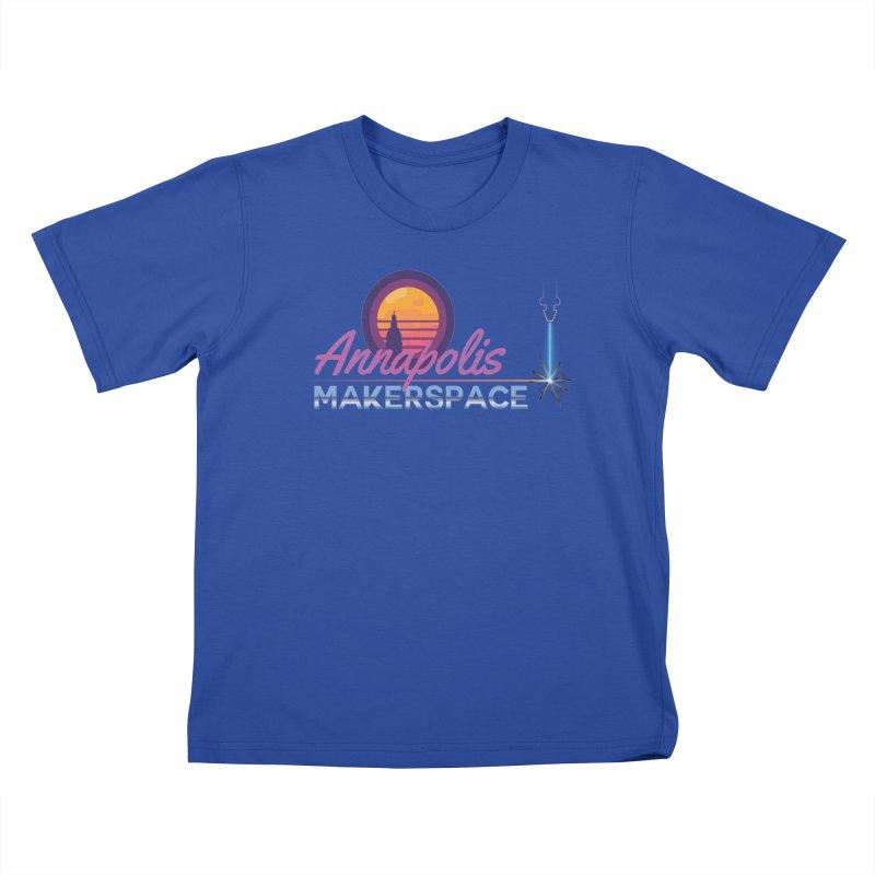Retro Laser Kids T-Shirt by Annapolis Makerspace's Shop