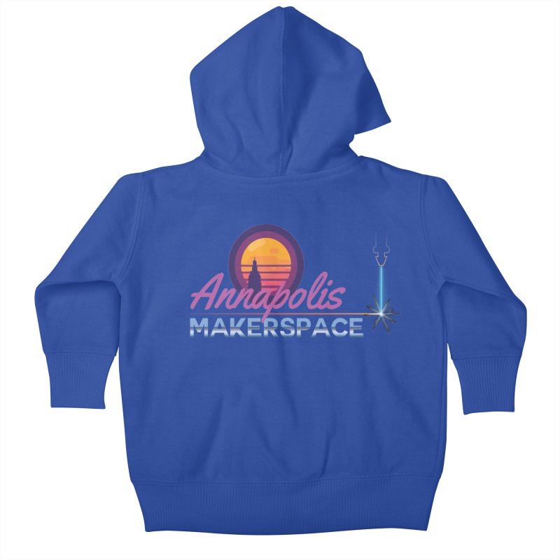 Retro Laser Kids Baby Zip-Up Hoody by Annapolis Makerspace's Shop