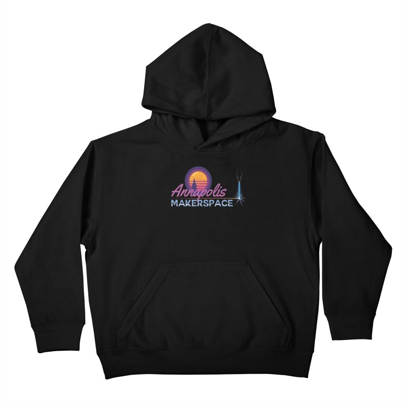 Retro Laser Kids Pullover Hoody by Annapolis Makerspace's Shop