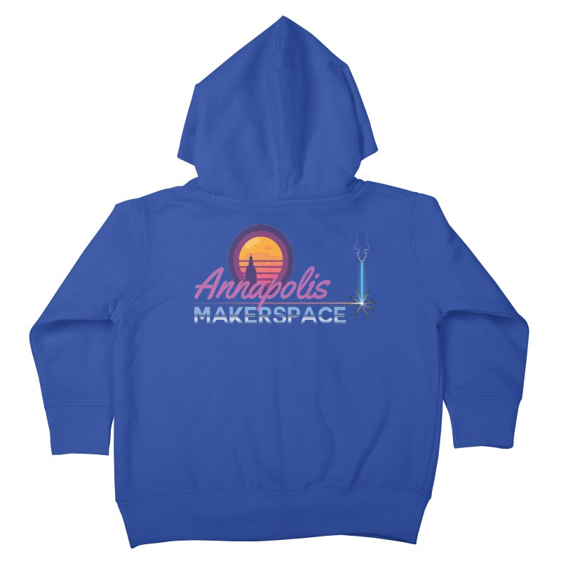 Retro Laser Kids Toddler Zip-Up Hoody by Annapolis Makerspace's Shop