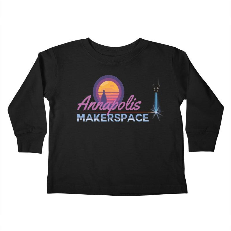 Retro Laser Kids Toddler Longsleeve T-Shirt by Annapolis Makerspace's Shop