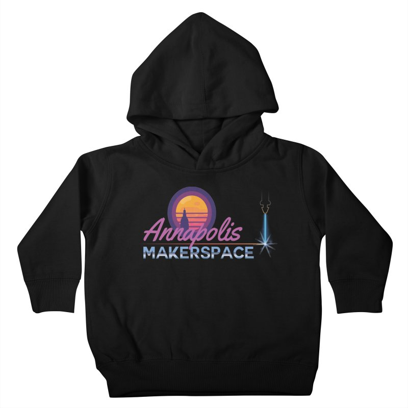 Retro Laser Kids Toddler Pullover Hoody by Annapolis Makerspace's Shop