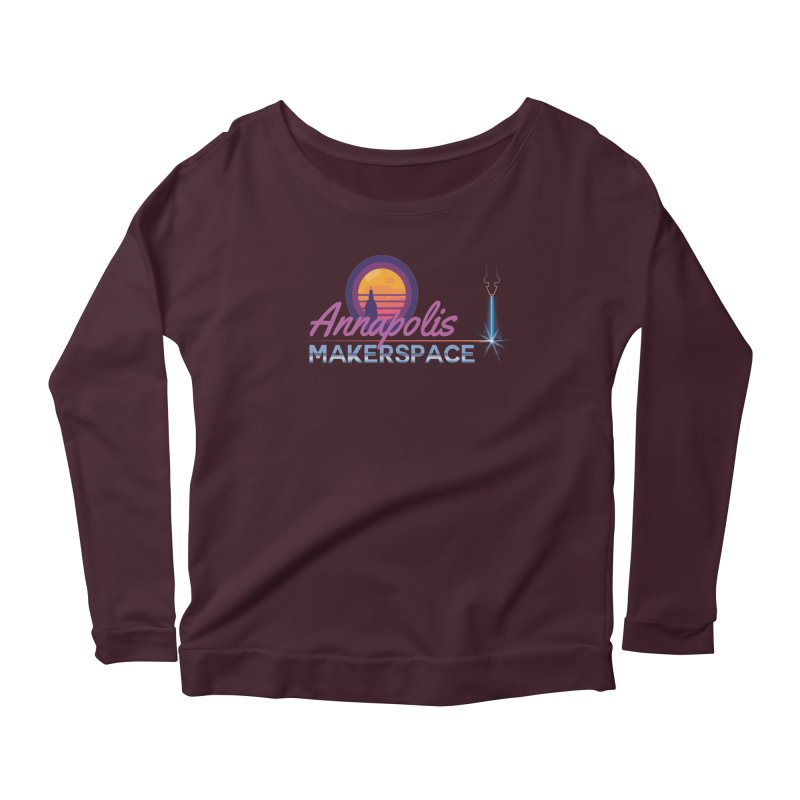 Retro Laser Women's Scoop Neck Longsleeve T-Shirt by Annapolis Makerspace's Shop