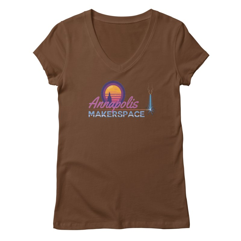 Retro Laser Women's Regular V-Neck by Annapolis Makerspace's Shop