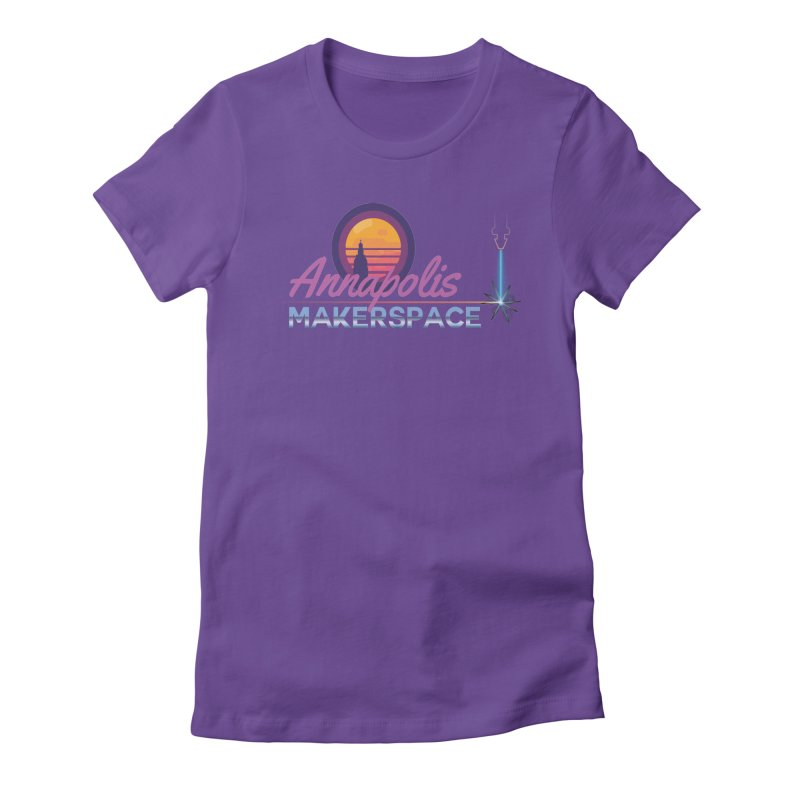 Retro Laser Women's Fitted T-Shirt by Annapolis Makerspace's Shop