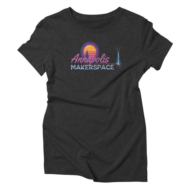 Retro Laser Women's Triblend T-Shirt by Annapolis Makerspace's Shop