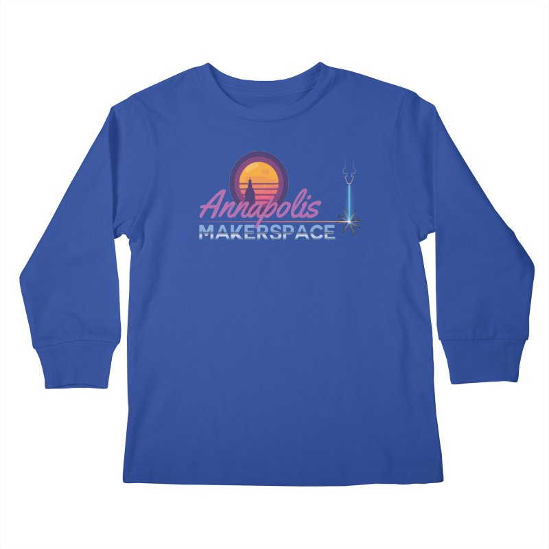 Retro Laser Kids Longsleeve T-Shirt by Annapolis Makerspace's Shop
